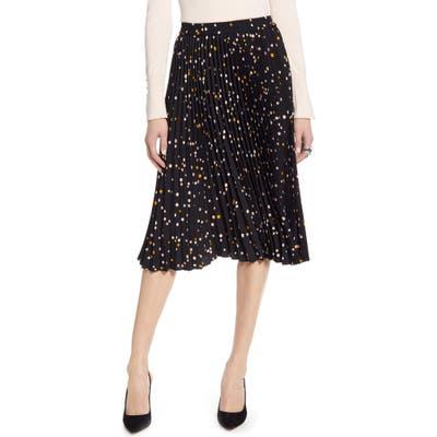 Halogen Pleated Skirt, Black
