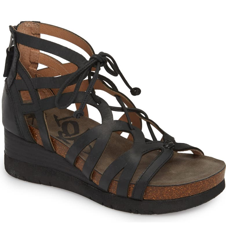 OTBT Escapade Wedge Sandal, Main, color, 001