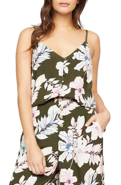 Image of Sanctuary Essential Button Front Tank Top