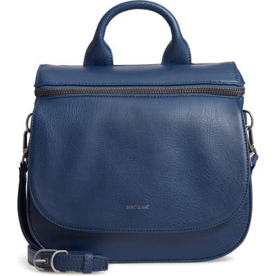 Matt & Nat Cerri Faux Leather Top Handle Bag - Blue