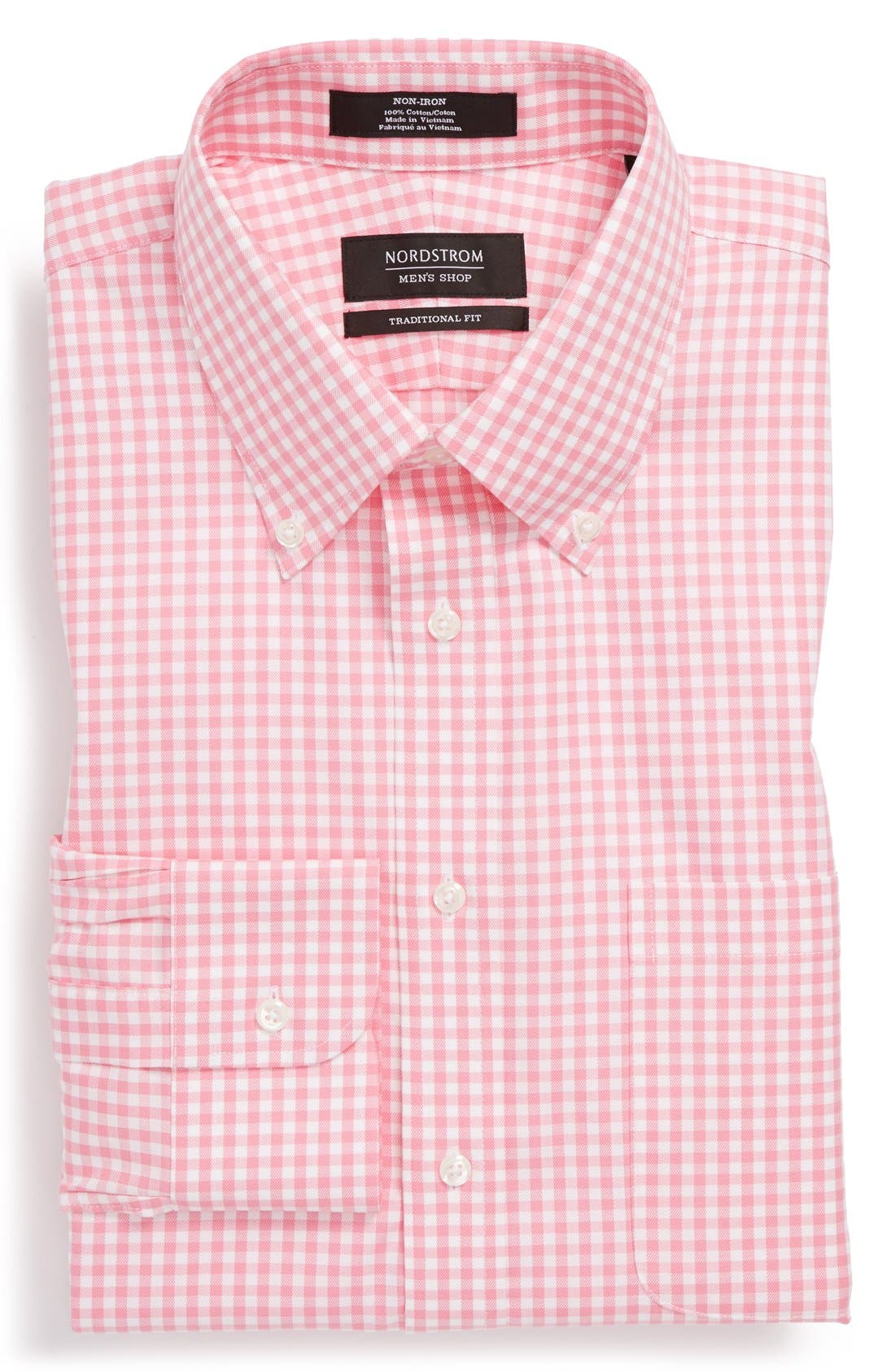 ,                             Traditional Fit Non-Iron Gingham Dress Shirt,                             Alternate thumbnail 35, color,                             680