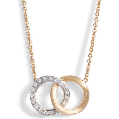 Marco Bicego Delicati Pave Diamond Pendant Necklace