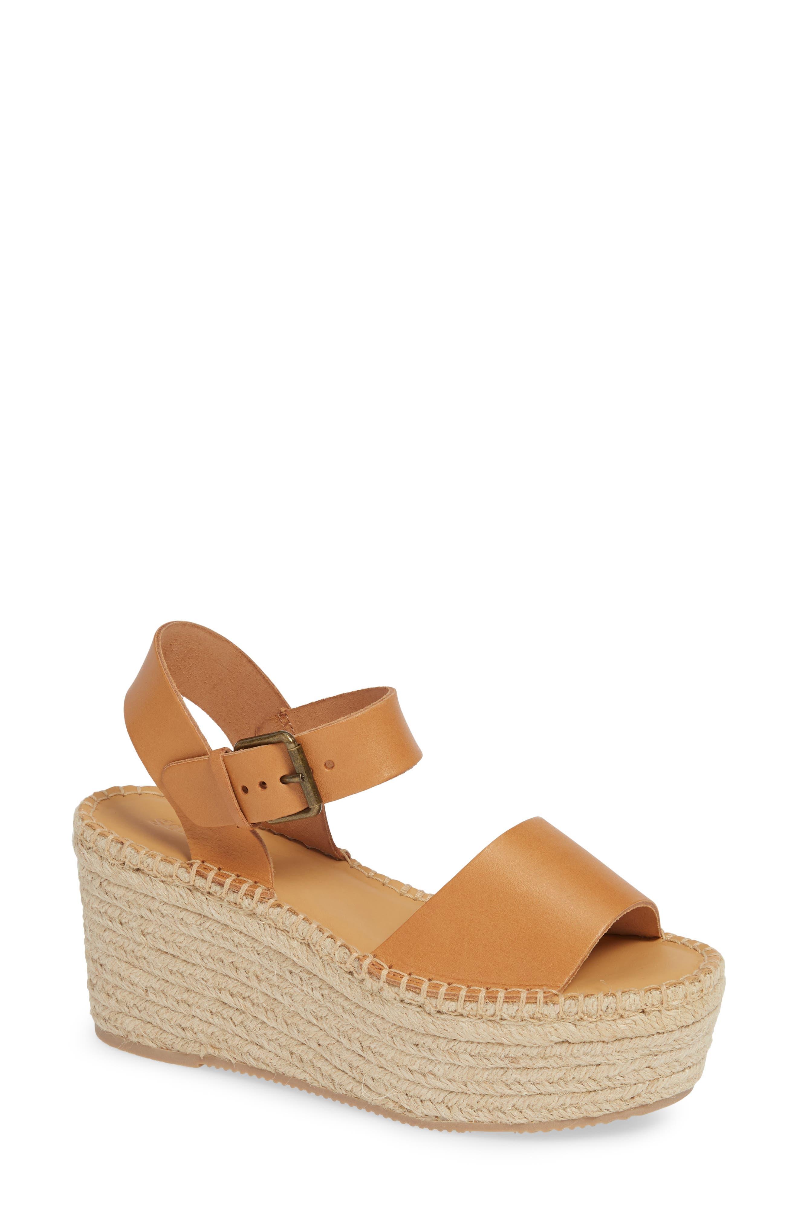 Soludos Minorca Platform Wedge Sandal, Brown