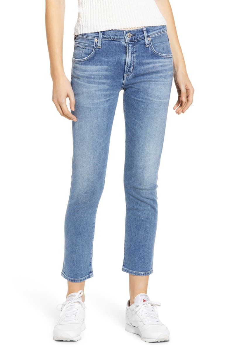 CITIZENS OF HUMANITY Elsa Crop Slim Jeans, Main, color, PACIFICA
