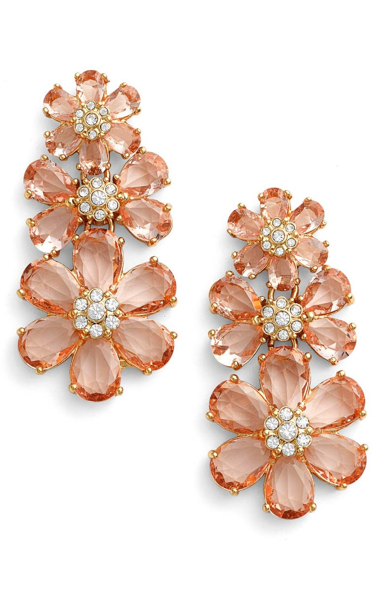 KATE SPADE NEW YORK 'at first blush' drop earrings, Main, color, 650