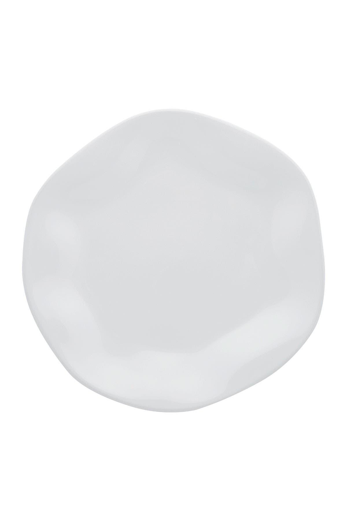 "Image of Manhattan Comfort RYO 6 Medium 8.46"" Salad Plates - White"