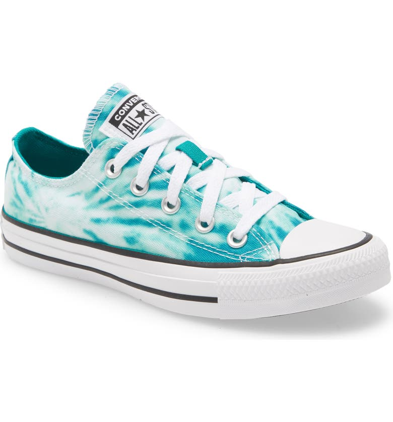 CONVERSE Chuck Taylor<sup>®</sup> All Star<sup>®</sup> Tie Dye Low Top Sneaker, Main, color, MALACHITE/ GAME ROYAL/ WHITE