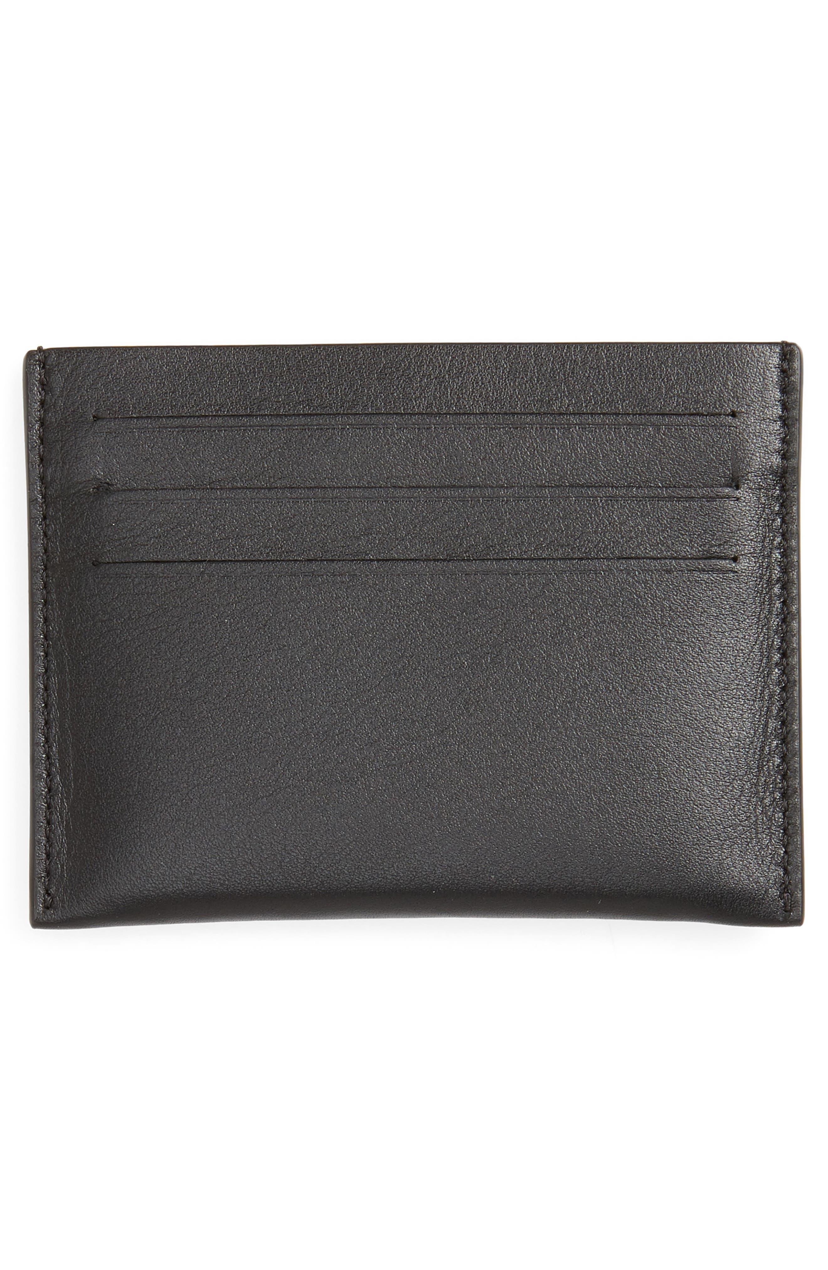 ,                             Leather Card Case,                             Alternate thumbnail 2, color,                             BLACK