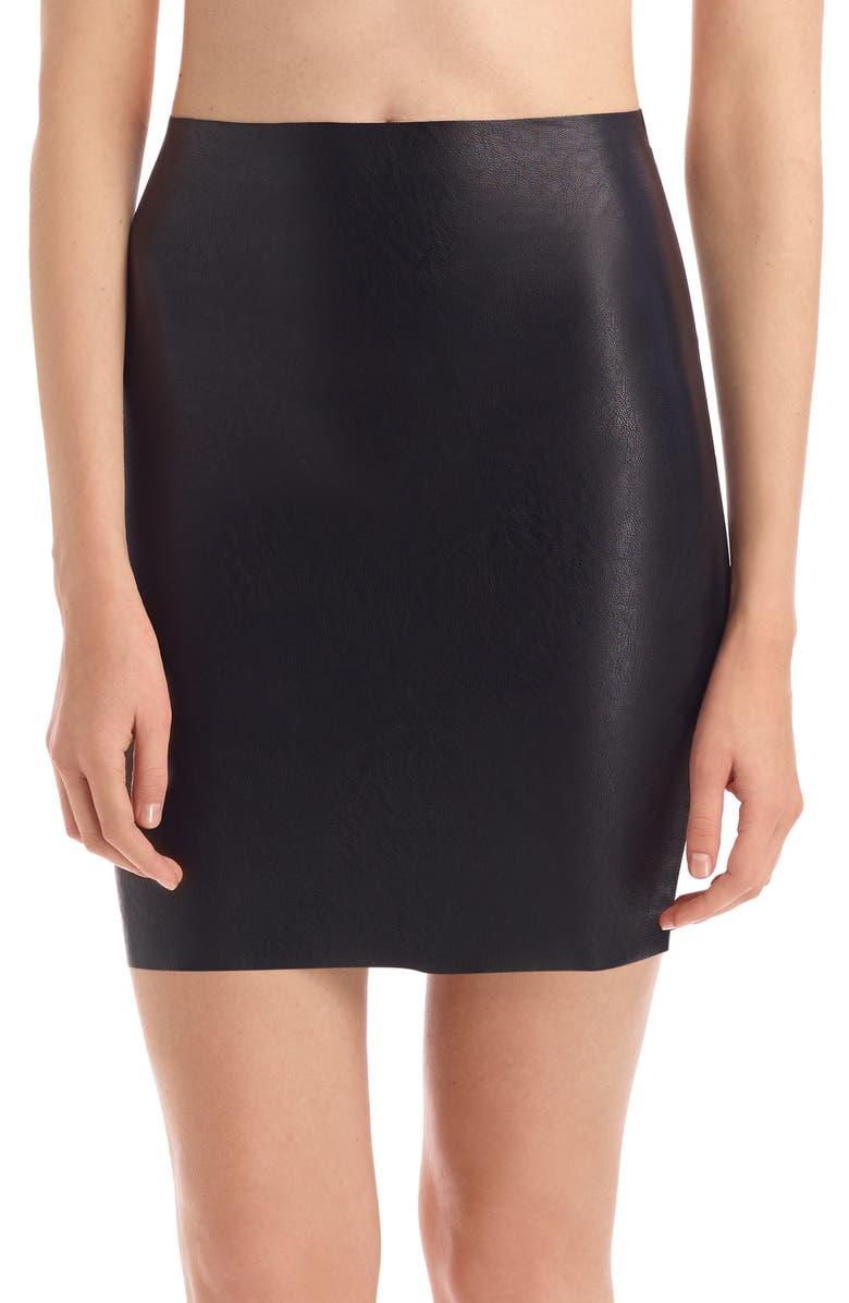 COMMANDO Faux Leather Miniskirt, Main, color, BLACK