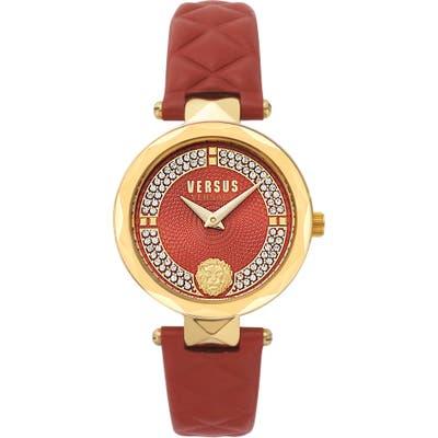 Versus Versace Covent Garden St. Valentine Leather Strap Watch, 32Mm