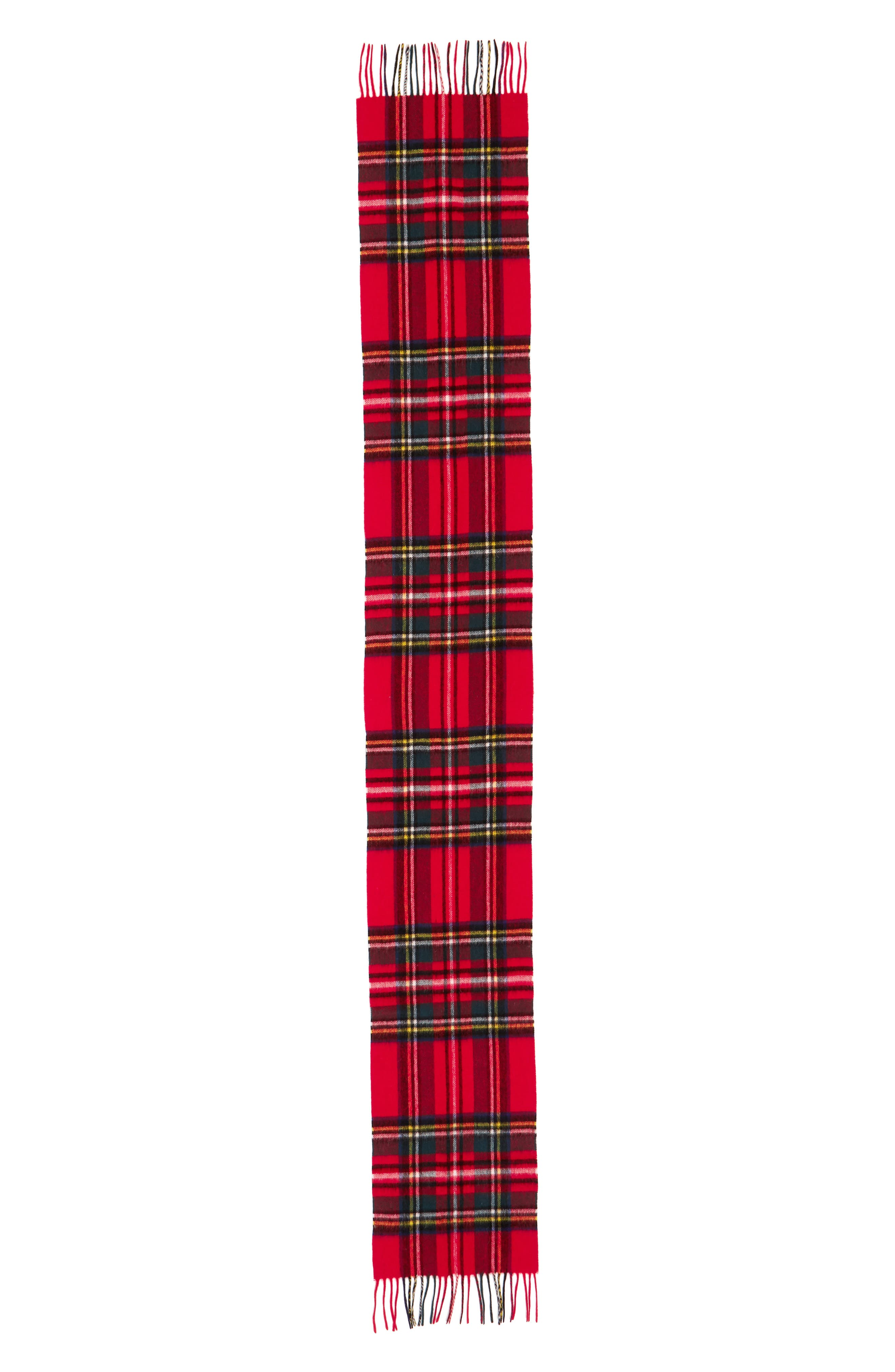 ,                             New Check Lambswool & Cashmere Scarf,                             Alternate thumbnail 18, color,                             630