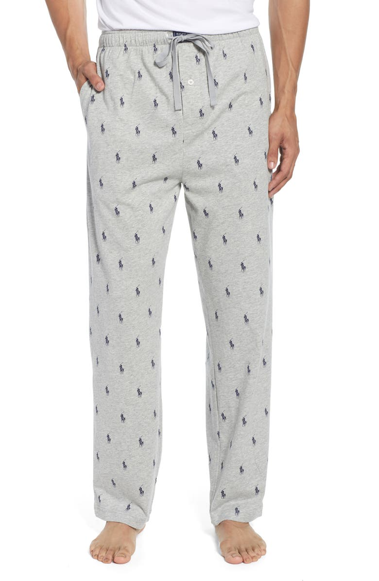 POLO RALPH LAUREN Aopp Pajama Pants, Main, color, ANDOVER HEATHER