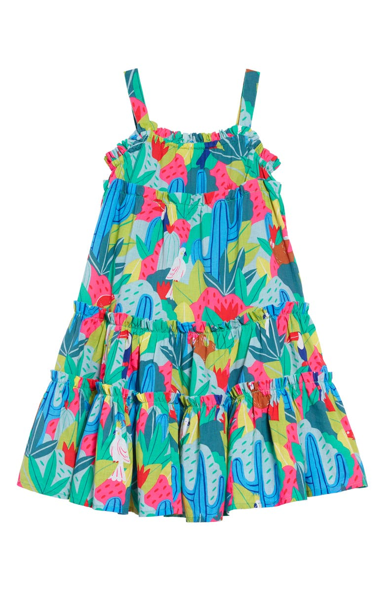 MINI BODEN Twirly Woven Dress, Main, color, MUL MULTI TROPICAL JUNGLE