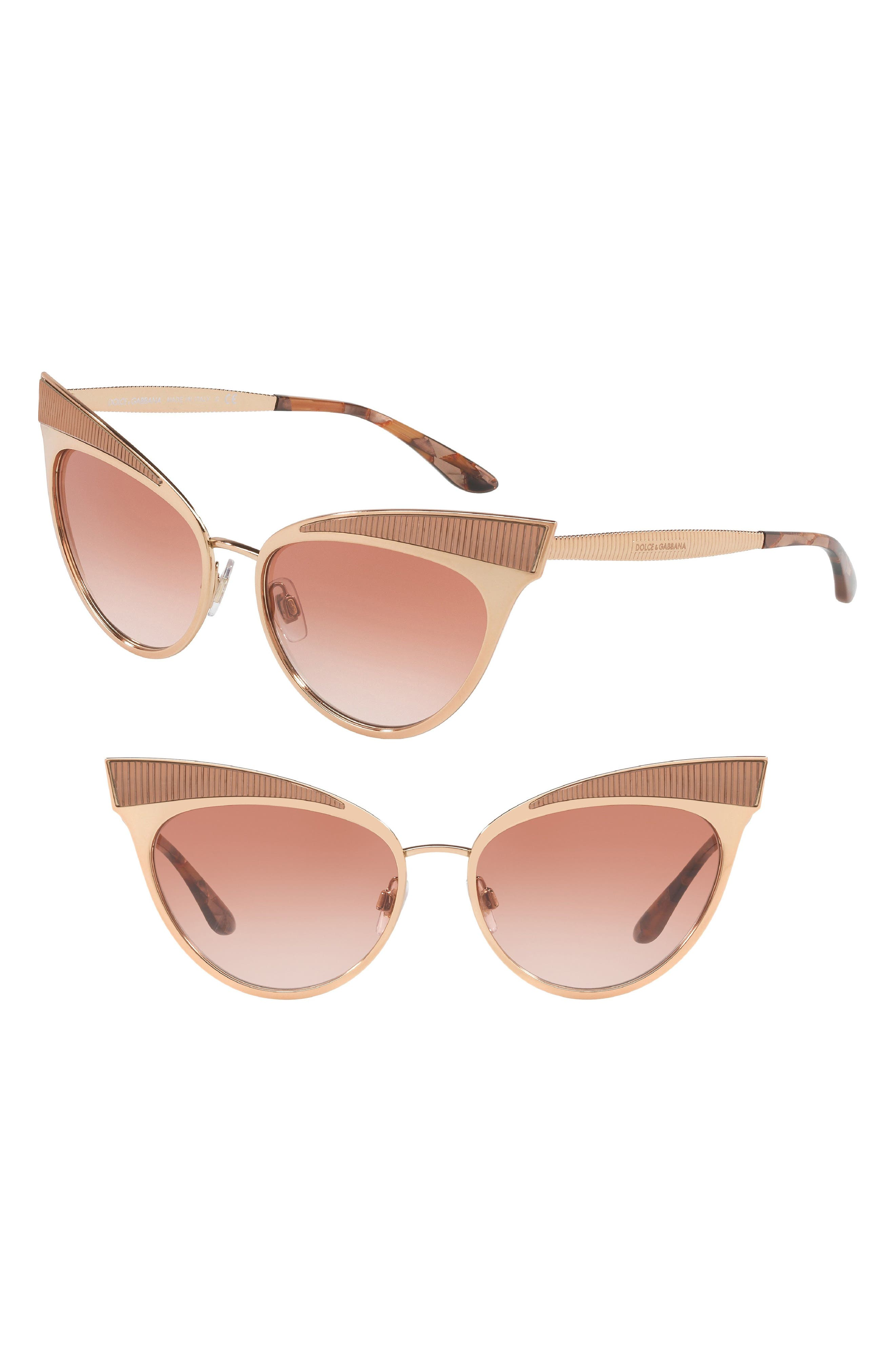 Image of Dolce & Gabbana 57mm Cat Eye Sunglasses