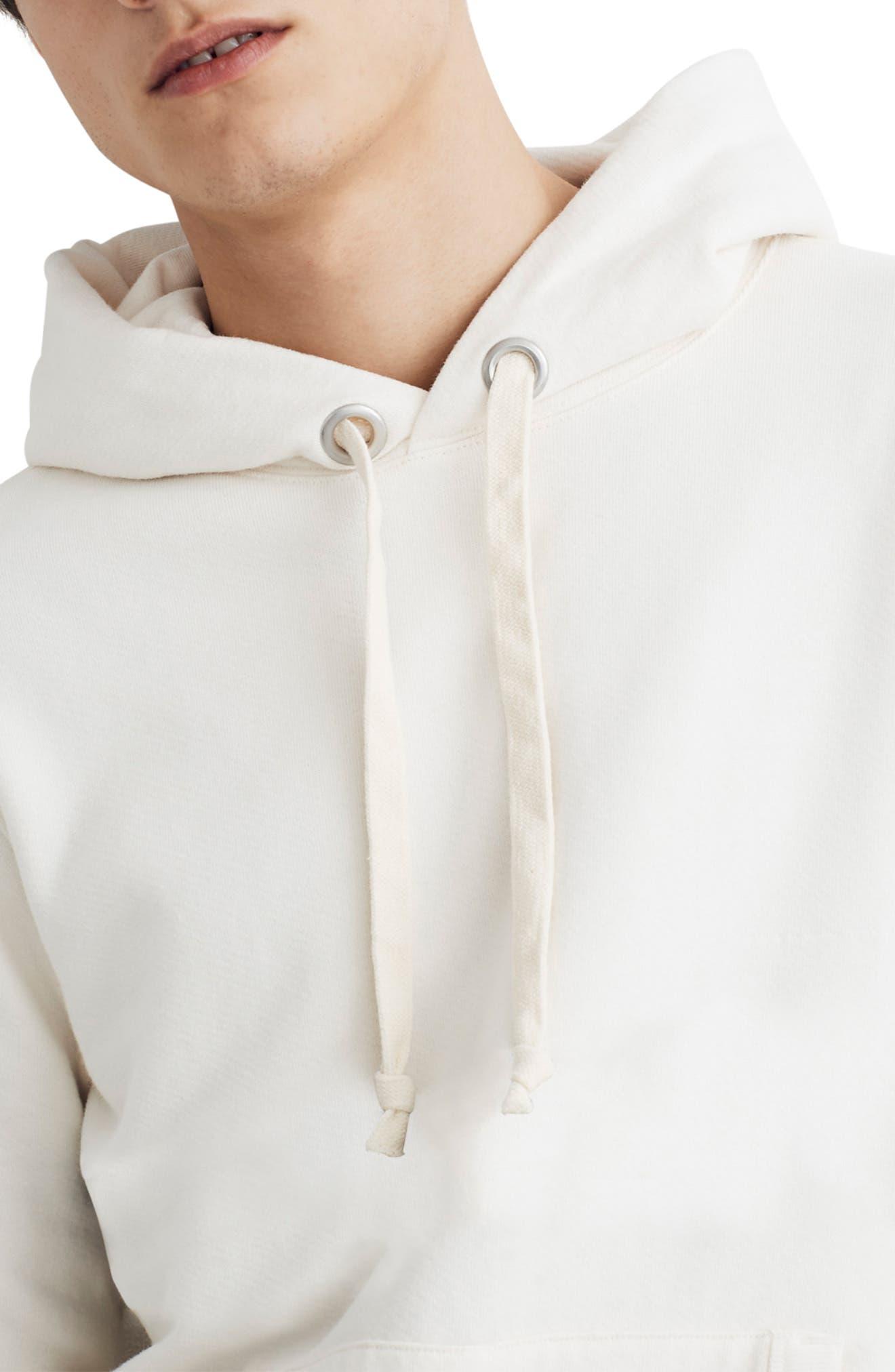 Hooded Sweatshirt, Main, color, PEARL IVORY