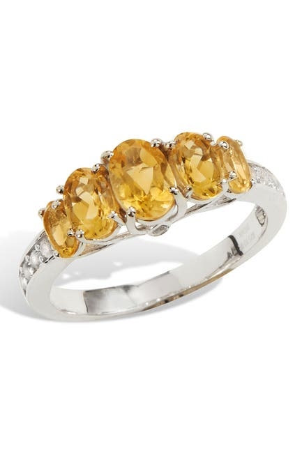 Image of Savvy Cie Sterling Silver Citrine Ring