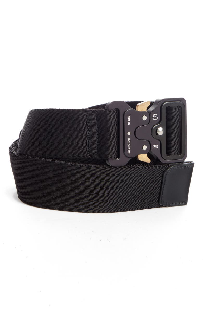 1017 ALYX 9SM Classic Rollercoaster Belt, Main, color, BLACK