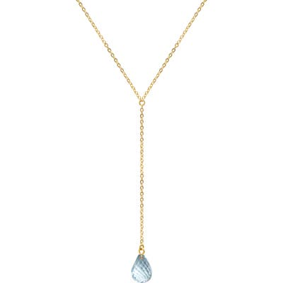 Jane Basch Designs Briolette Gemstone Y-Necklace