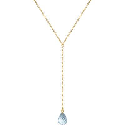 Jane Basch Designs Briolette Gemstone Y-Necklace