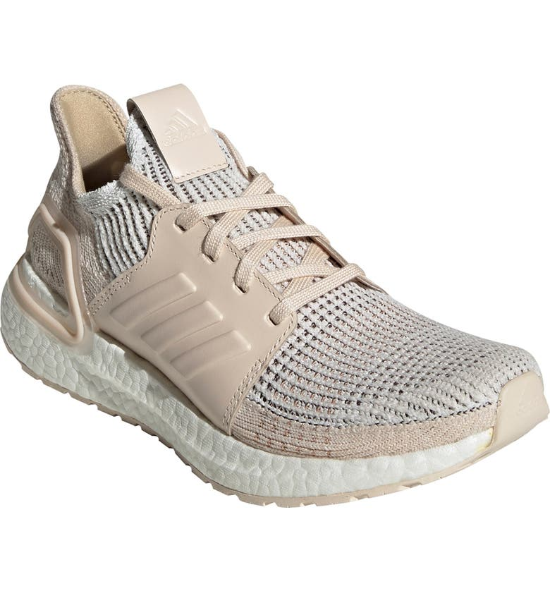 ADIDAS UltraBoost 19 Running Shoe, Main, color, CRYSTAL WHITE/ BROWN/ LINEN
