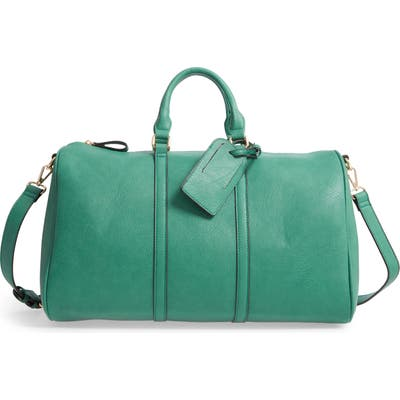 Sole Society Cassidy Faux Leather Duffle Bag - Green