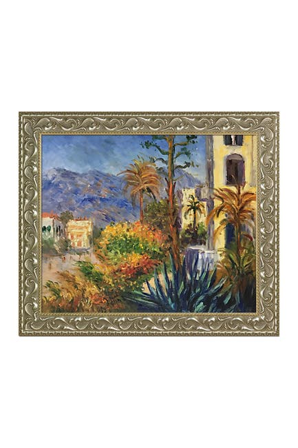"""Image of Overstock Art Villas at Bordighera by Claude Monet Framed Hand Painted Oil Reproduction - 25.5"""" x 29.5"""""""