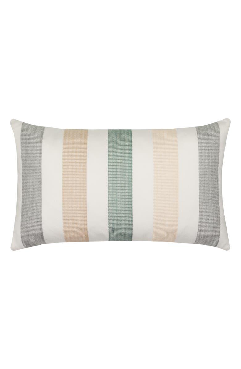 ELAINE SMITH Axiom Indoor/Outdoor Lumbar Accent Pillow, Main, color, GRAY MULTI