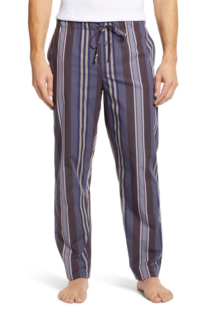 HANRO Noe Pajama Pants, Main, color, BIG REPEAT STRIPE