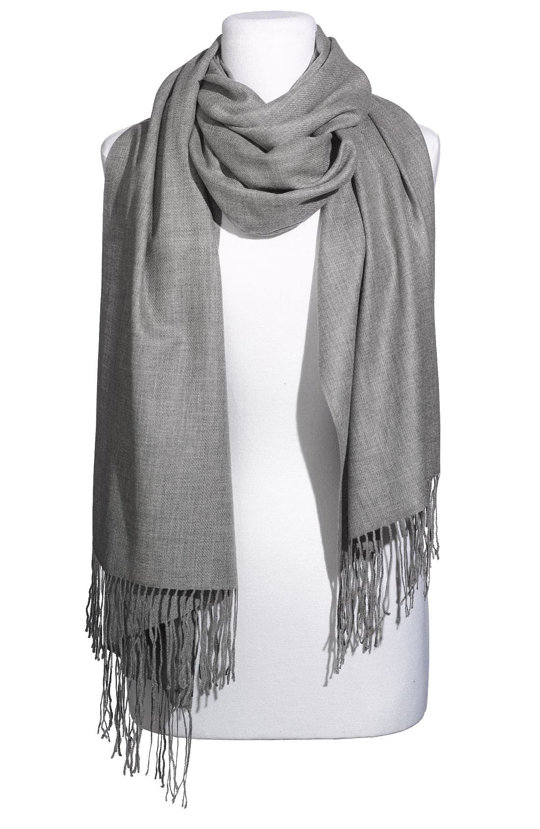 ,                             Tissue Weight Wool & Cashmere Wrap,                             Main thumbnail 2, color,                             020
