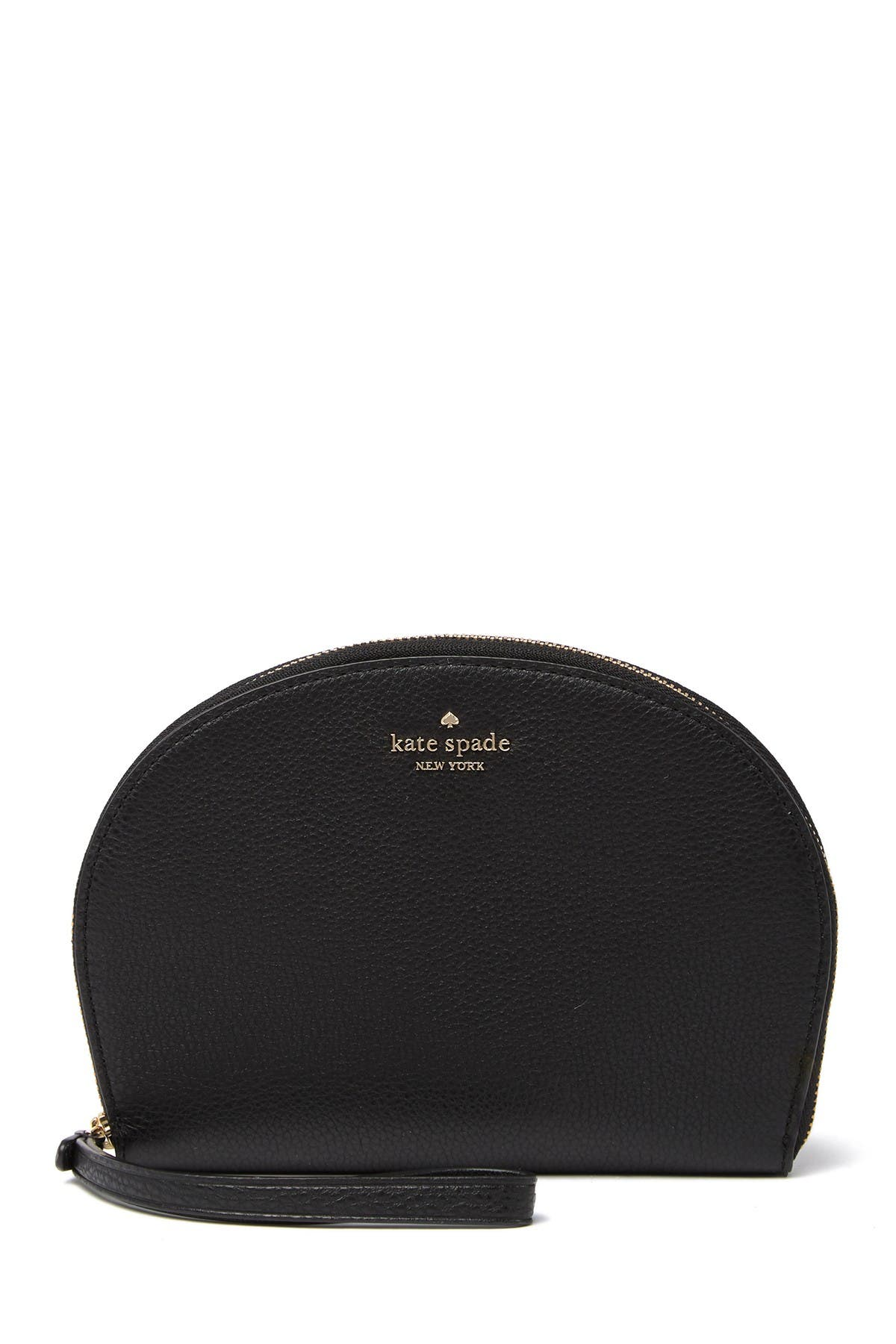 Image of kate spade new york rima leather round wristlet pouch