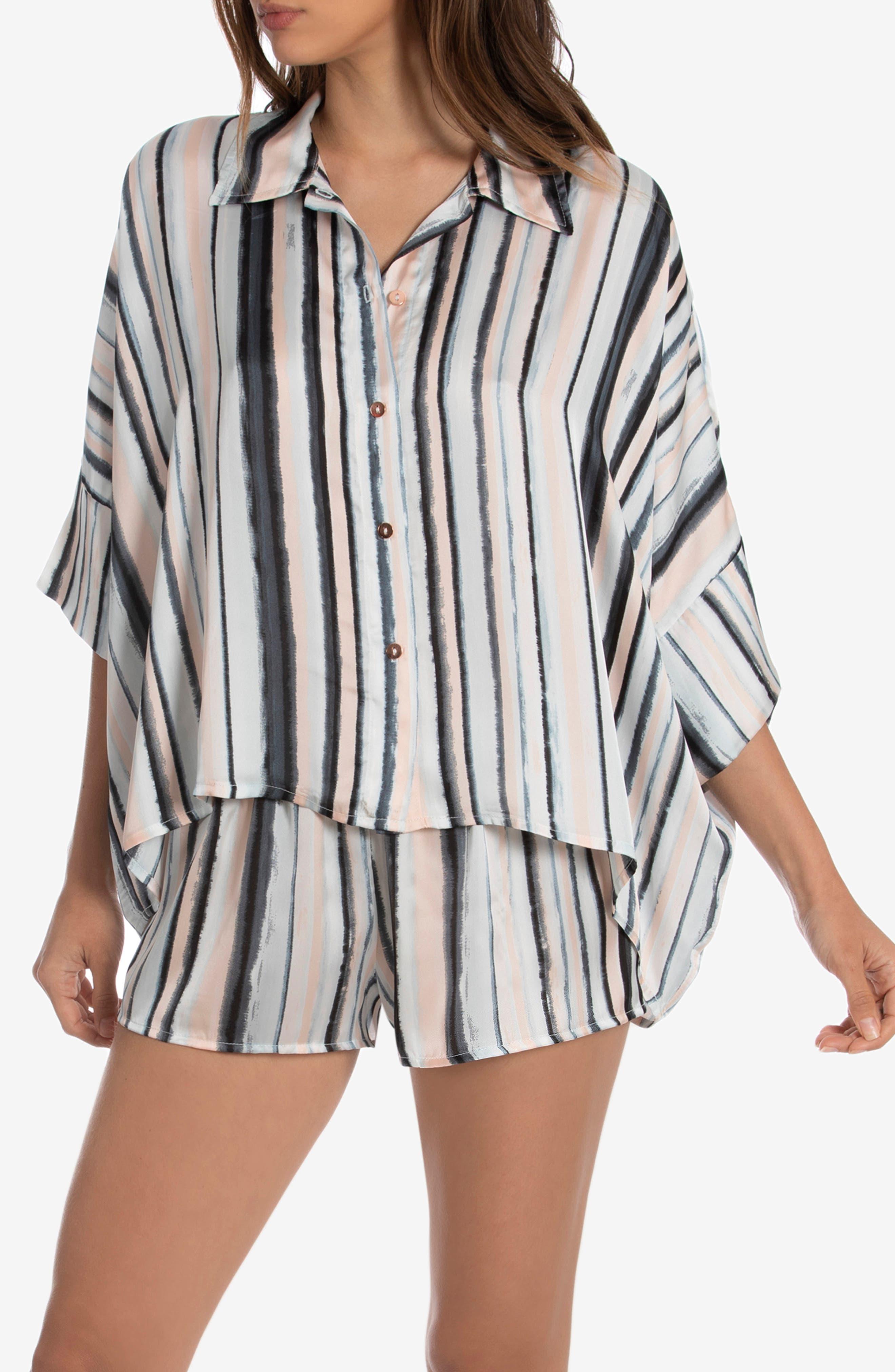 Stripe Satin Short Pajamas