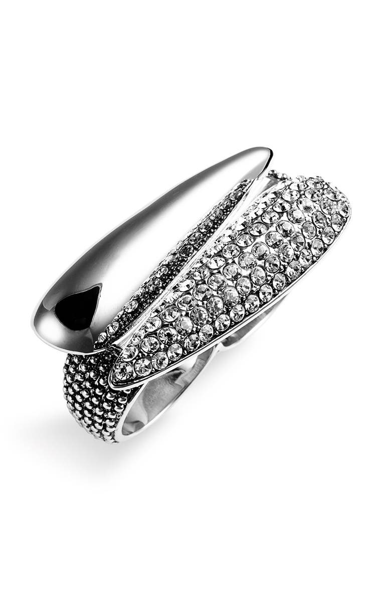 ARIELLA COLLECTION 'Talon' 2-Finger Ring, Main, color, 040