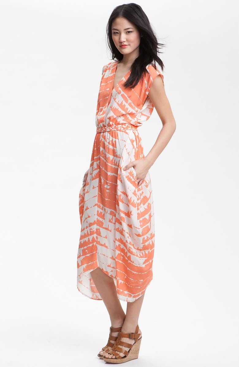 CHARLIE JADE 'Opal' Print Silk Maxi Dress, Main, color, 810