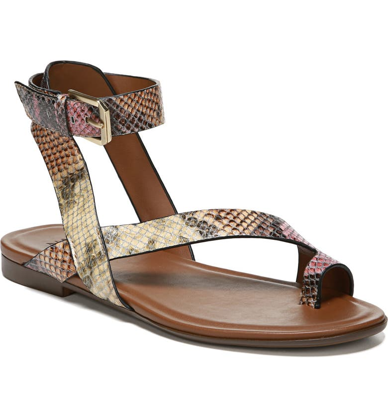 NATURALIZER Tally Ankle Strap Sandal, Main, color, MAUVE SNAKE PRINT LEATHER