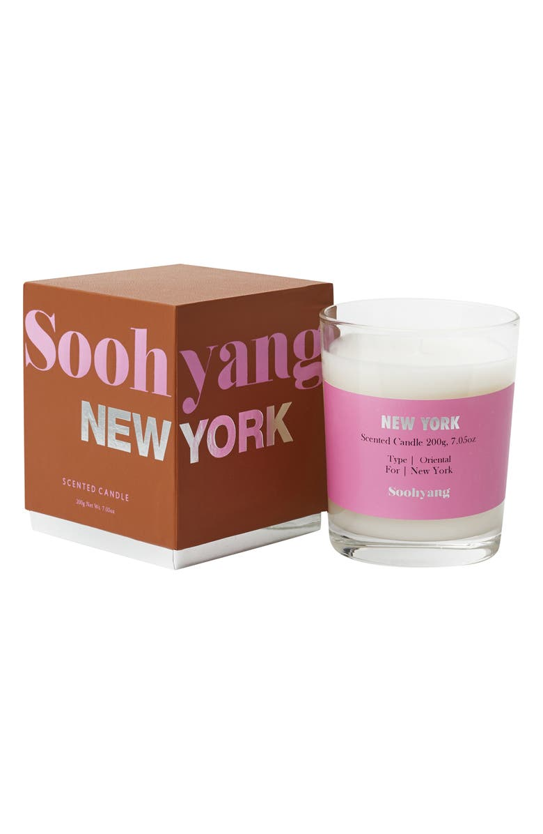 SOOHYANG New York Special Edition Candle, Main, color, NEW YORK
