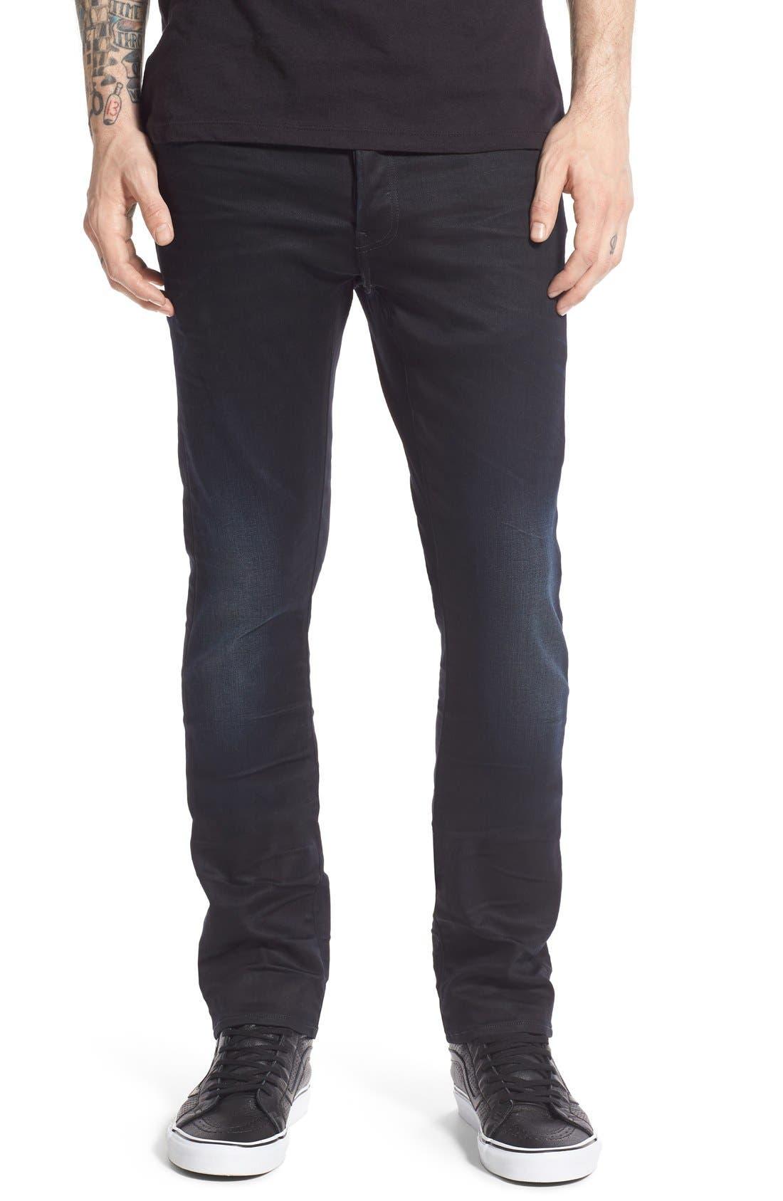 '3301 Slander' Slim Fit Jeans, Main, color, 404