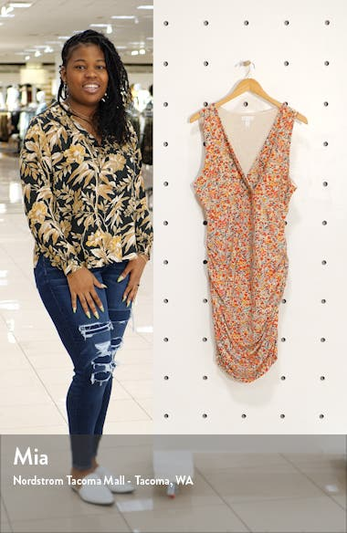 Surplice Ruched Dress, sales video thumbnail