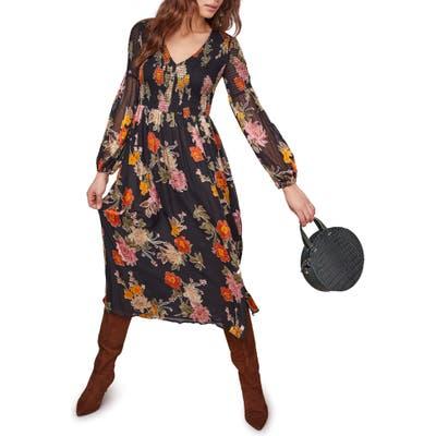 Astr The Label Cheveonne Long Sleeve Maxi Dress, Black