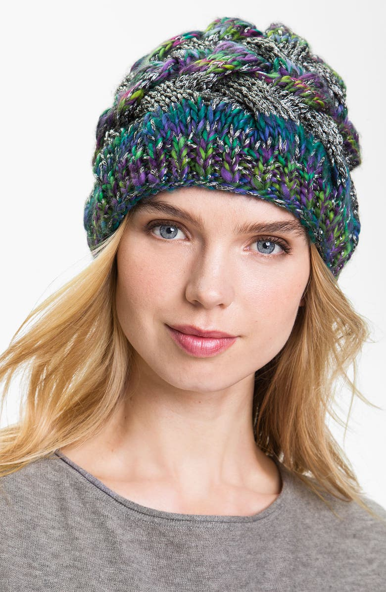 LAUNDRY BY SHELLI SEGAL Cable Knit Beanie, Main, color, 400