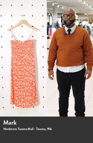 Sleeveless Smocked Midi Dress, sales video thumbnail
