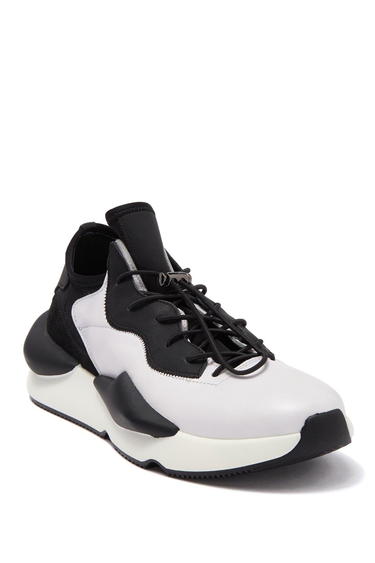 Image of Karl Lagerfeld Paris Leather & Neoprene Chunky Platform Sneaker