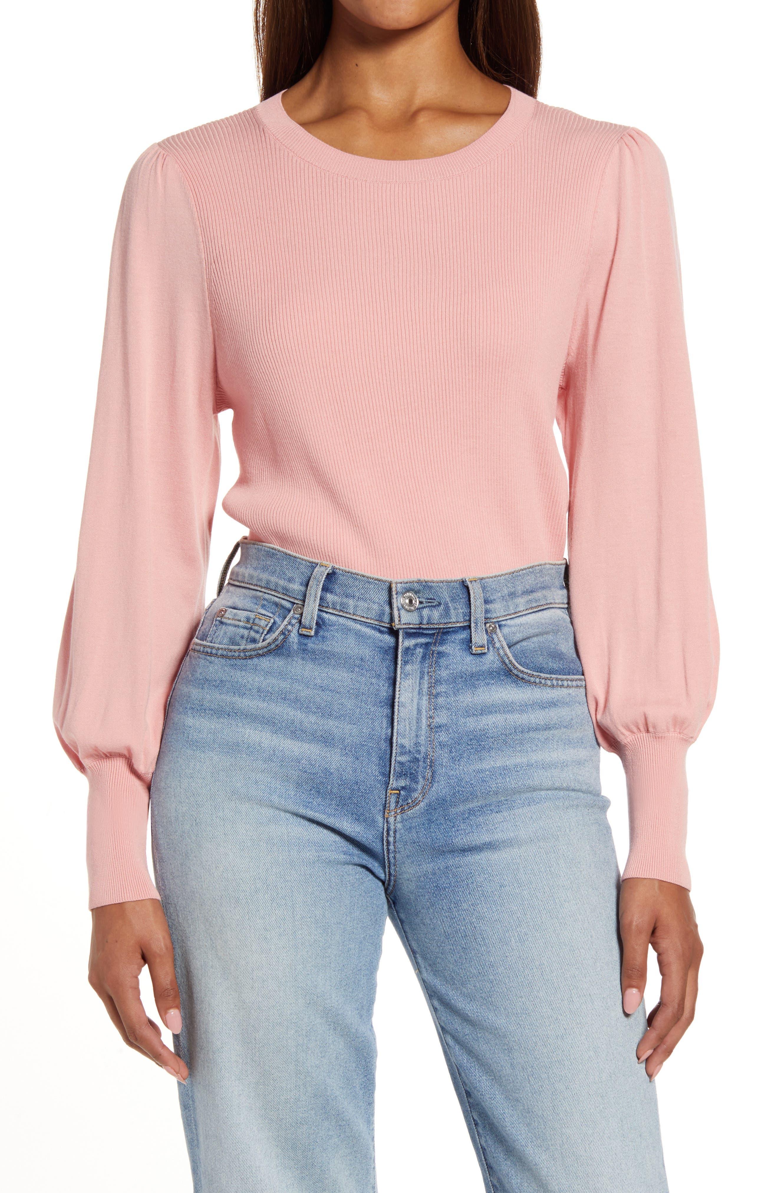 Women's Halogen Puff Sleeve Sweater