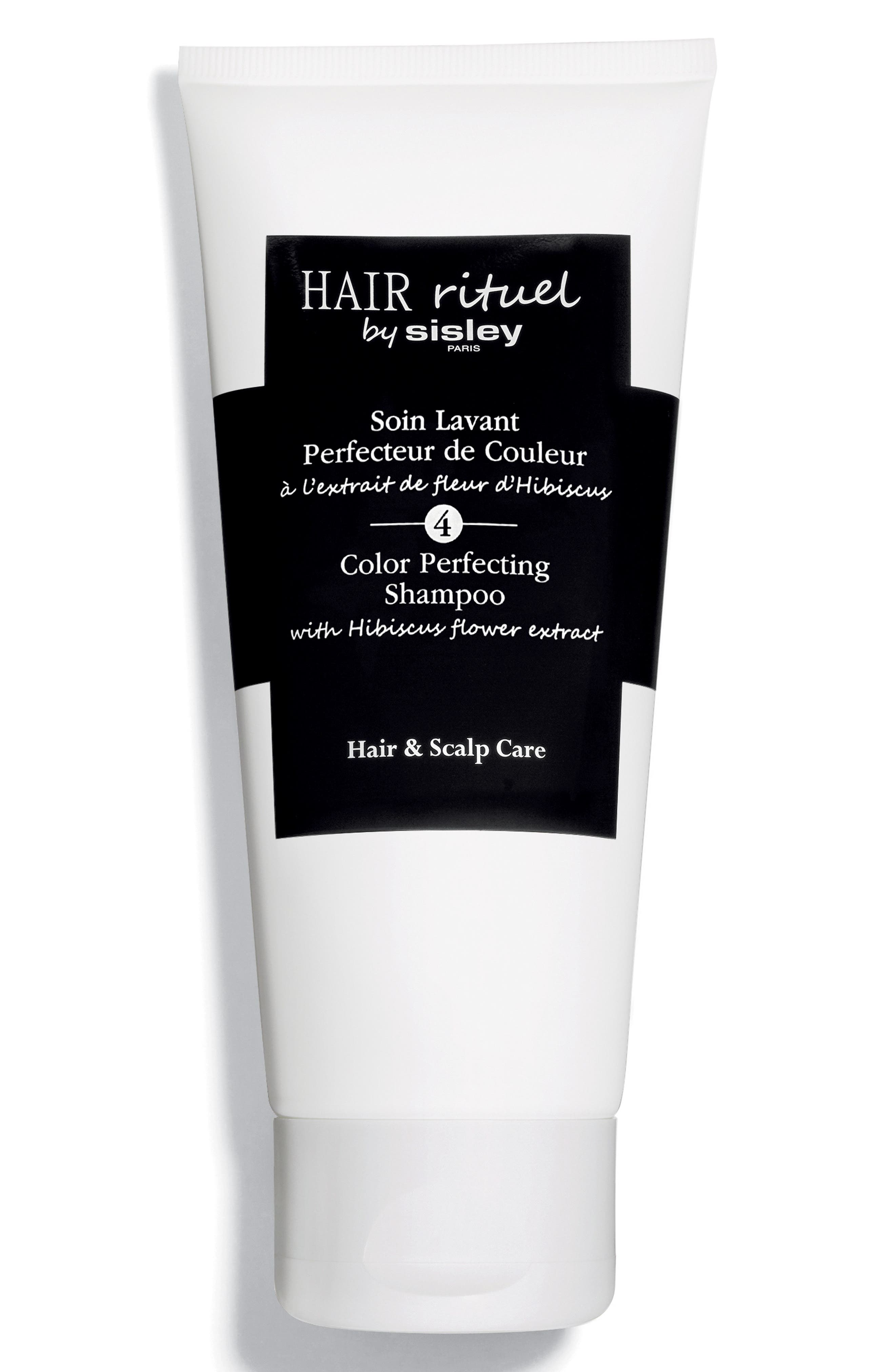 What it is: A color-perfecting shampoo with hibiscus flower extract that gently cleanses and cares for colored and highlighted hair. What it does: Its fluid, pearly texture transforms into a fine and rich foam on contact while its formula supports prolonging color intensity from fading after repeated washing. With a fresh fragrance, this shampoo leaves your hair feeling light, soft and shiny, and delicately scented, too. How to use: Apply a small