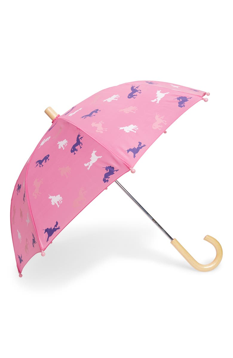 HATLEY Unicorn Silhouette Umbrella, Main, color, PINK