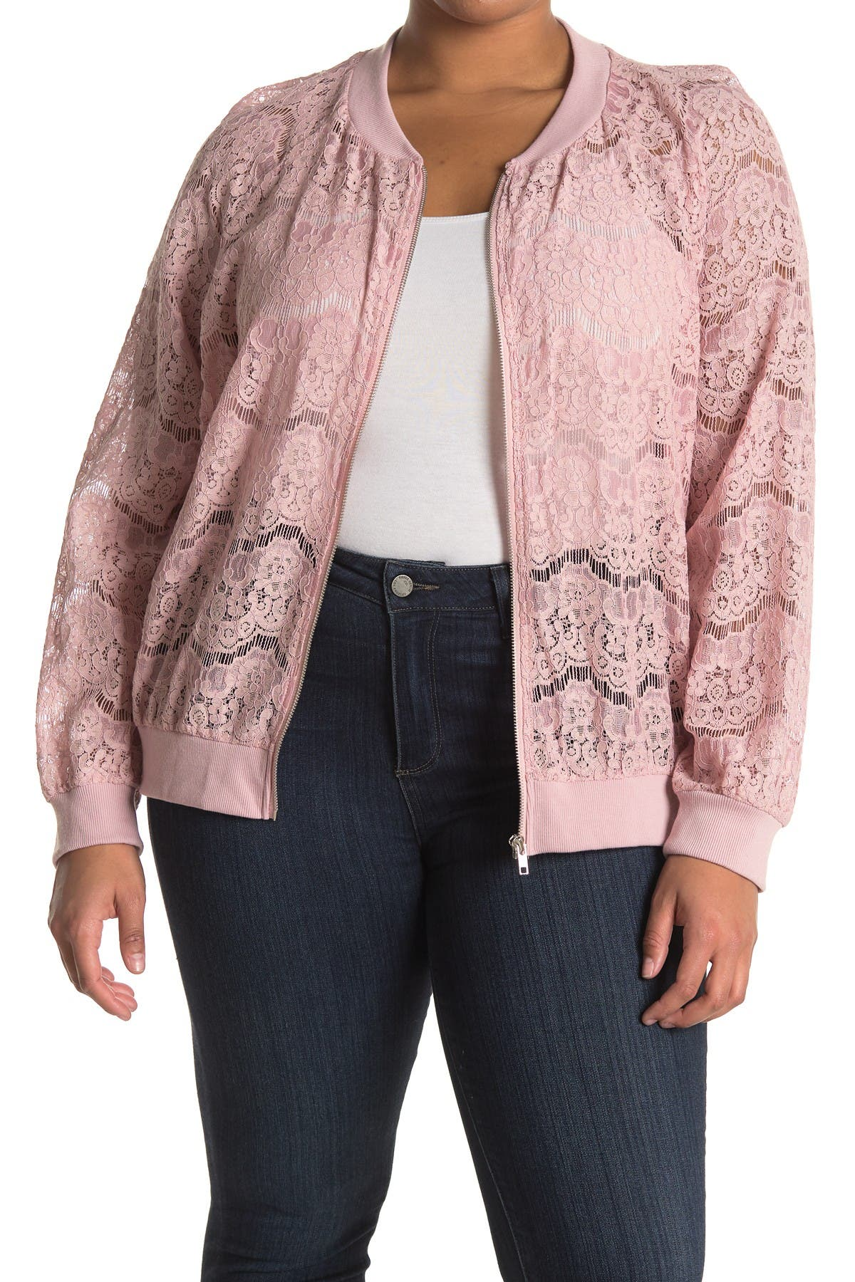 Image of 14TH PLACE Lace Bomber Jacket