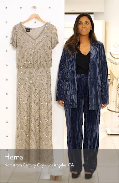 Embellished Blouson Gown, sales video thumbnail