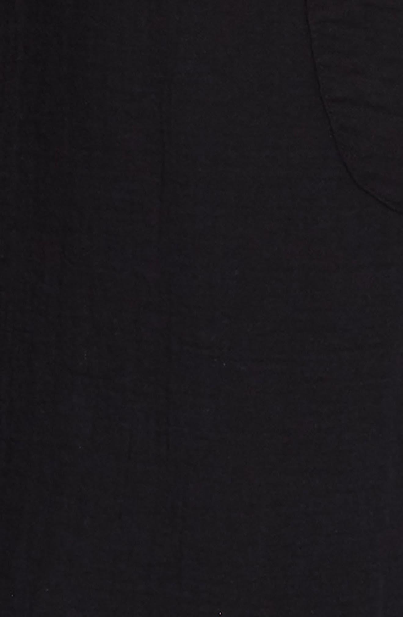 ,                             Cotton Jumpsuit,                             Alternate thumbnail 3, color,                             BLACK
