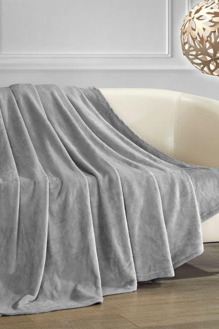 Image of Chic Home Bedding Kaeden Fleece Throw - Grey