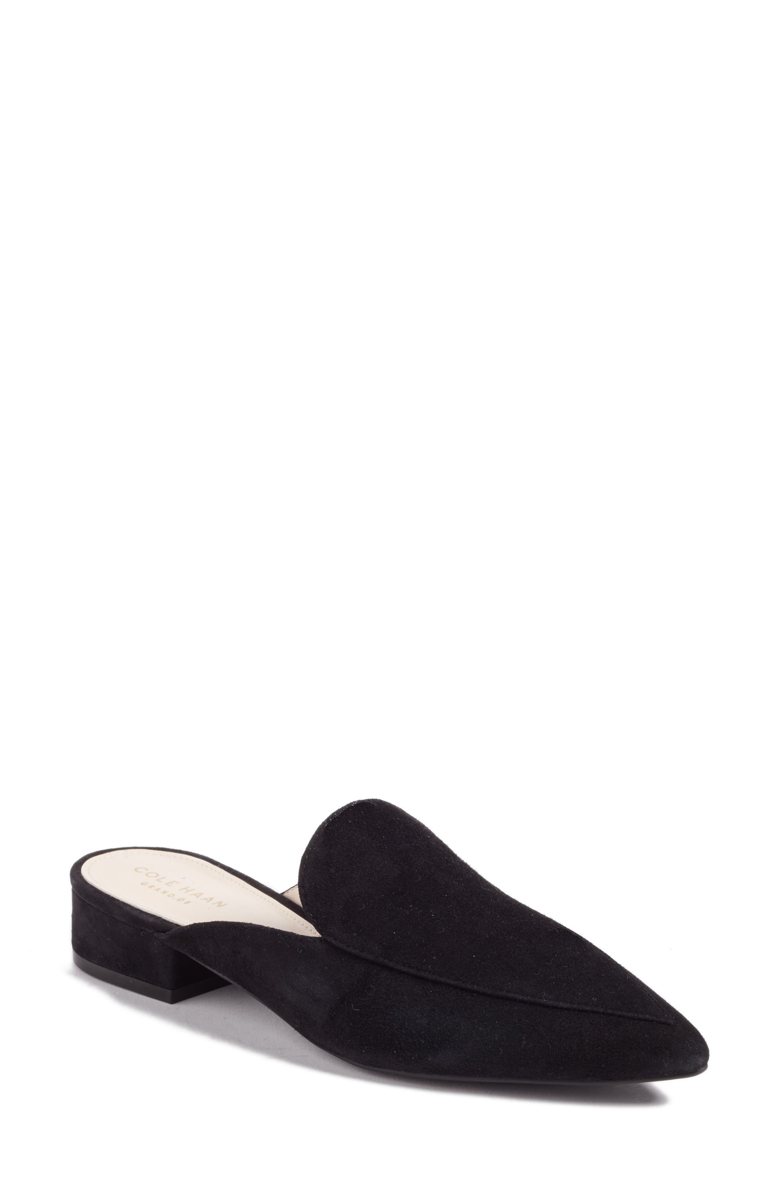 Piper Loafer Mule, Main, color, BLACK SUEDE