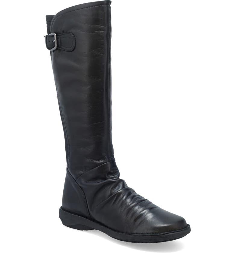 MIZ MOOZ Providence Knee High Boot, Main, color, BLACK LEATHER